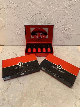 大人気商品のGiorgio Armani口紅.一箱は5種の色