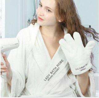 速乾タオル手袋 早く髪を乾かせるドライ ヘア グローブ 吸水