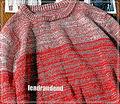 ライン レッド ニット セーター ニットセーター