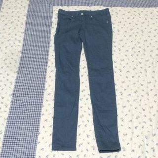 GU(ジーユー)スキニーパンツ W58? ブルー
