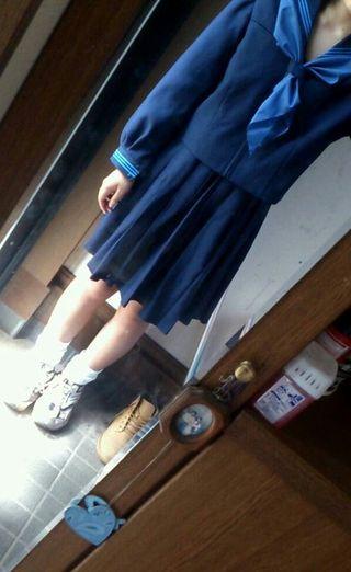 冬服     セーラー服 スカーフつき(公立中学校)
