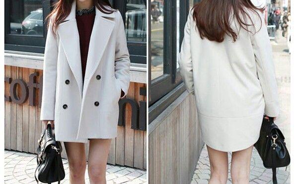 ハーフコート、ロングコート、ホワイト、白