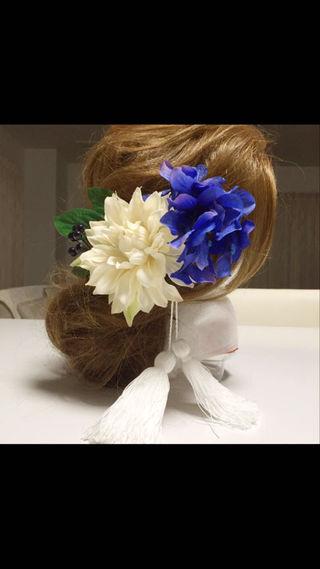 新作!ウェディング 髪飾り 卒業式 成人式 着物 タッセル
