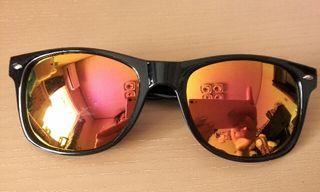 UV400 ミラーサングラス ビッグサイズ キャットアイ