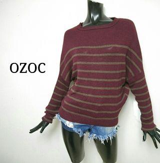 OZOC*ボーダーニット