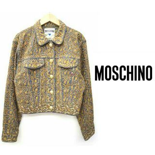 moschino 総刺繍 デニム風ジャケット 金ボタン 高級