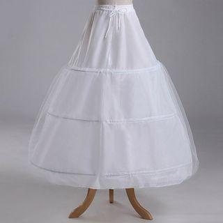 花嫁ドレス 定番 ボリューム パニエ フリルいっぱい 裏地付