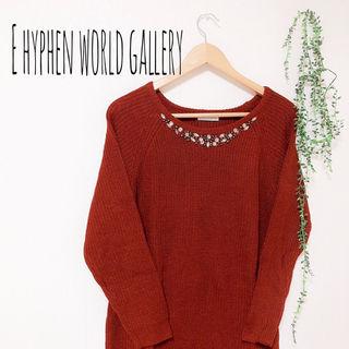 E hyphen world gallery ニットワンピ