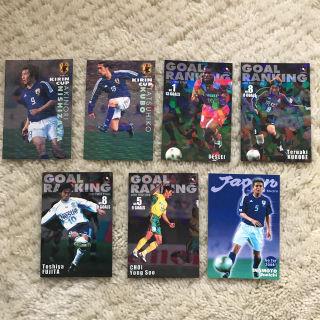 プロサッカーチップスキラカード7枚(当時のもの)