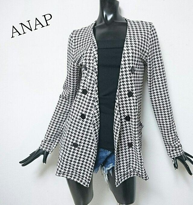 ANAP*千鳥柄ジャケット(ANAP(アナップ) ) - フリマアプリ&サイトShoppies[ショッピーズ]