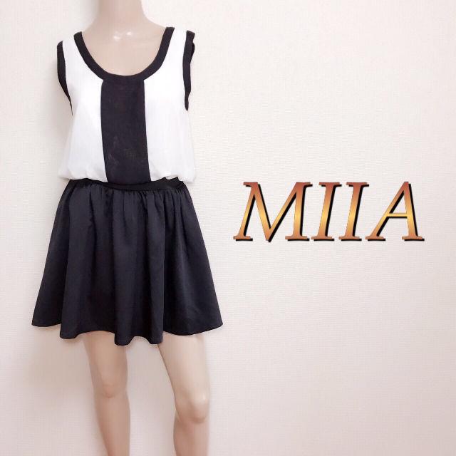 極美品  ミーア MIIA  バイカラーワンピース(MiiA(ミーア) ) - フリマアプリ&サイトShoppies[ショッピーズ]