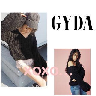 新品 GYDA ボリュームスリーブ ニットトップス