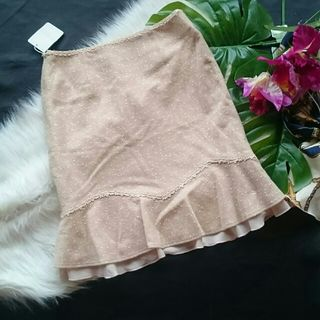 新品!タグ付き!レッセパッセレース刺繍ツイード×スカート