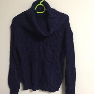 【レディース処分】EMSEXCITE セーター ネイビー