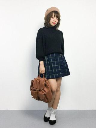 新品WEGOチェックフレアスカート
