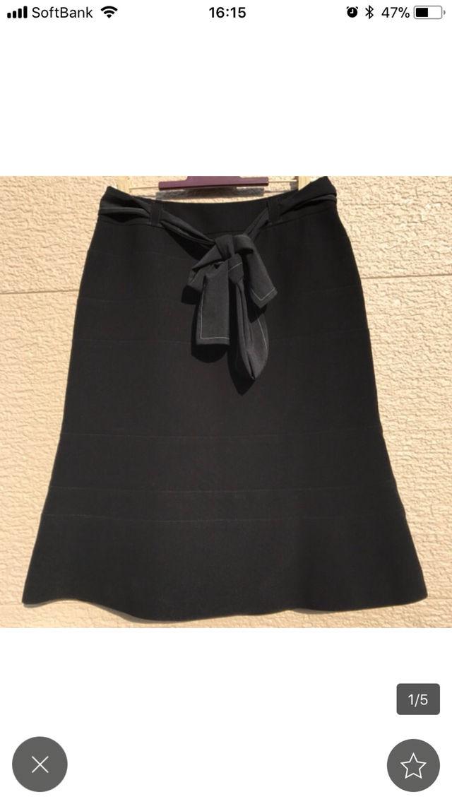 TO BE CHIC スカート 黒 ブラック 38