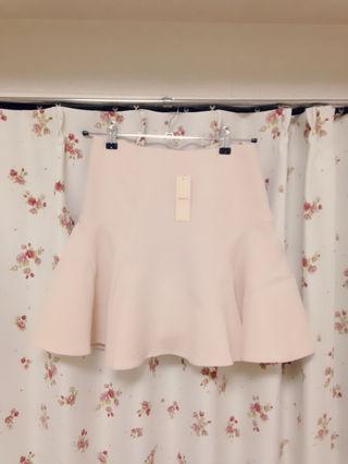 新品タグ付き ピンク フレアスカート