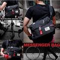 メッセンジャーバッグ 肩掛け 斜め掛け 大容量 (黒)