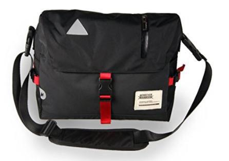 メッセンジャーバッグ 肩掛け 斜め掛け 大容量 (黒)(ノーブランド ) - フリマアプリ&サイトShoppies[ショッピーズ]