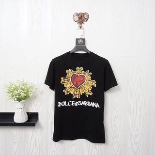 D&G 春夏Tシャツカップル 半袖カットソー
