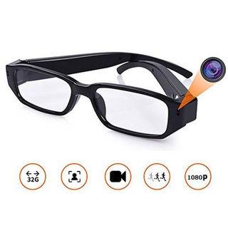 フルハイビジョン録画 メガネ型防犯ビデオカメラ 1080p