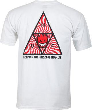 HUF Tシャツ SPITFIRE ホワイト  M ハフ