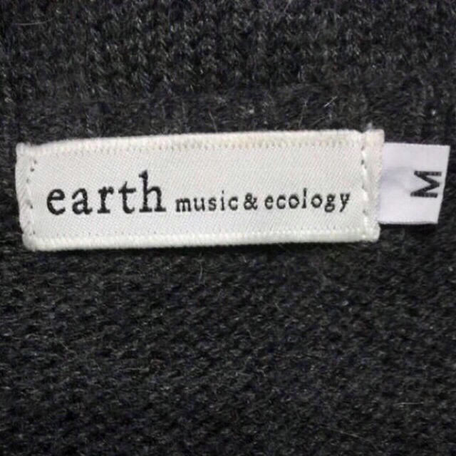 アースミュージック&エコロジー襟二重レースカーディガン