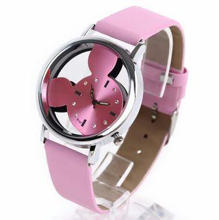[希少]ミッキー マウス ピンク 腕時計
