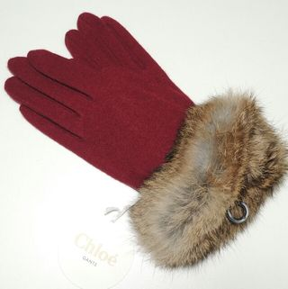 新品タグ付 【Chloe】クロエ手袋 カシミヤ入り 高級手袋