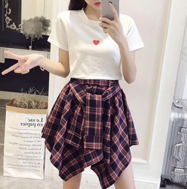 簡単コーデ*Tシャツ巻きスカートセットアップ