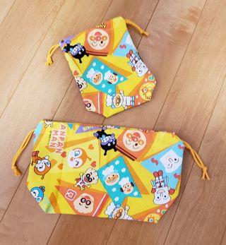 アンパンマン 巾着袋セット ハンドメイド
