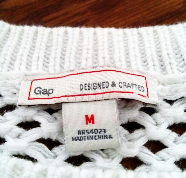 Mサイズ GAP 綿100% 半袖 ニット ホワイト