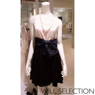 定価2万WILLSELECTION バイカラードレス
