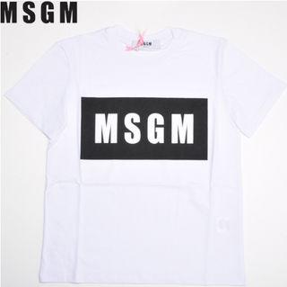 MSGM エムエスジーエム Tシャツ 男女兼用  ホワイト