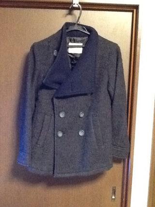 ウール混ジャケットコート