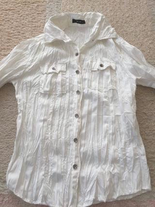 レディース シャツ ホワイト 白 長袖