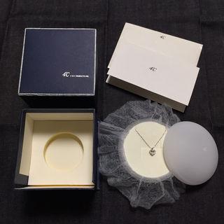4 K18 ホワイトゴールドダイヤモンドネックレス