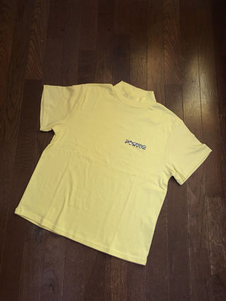 【新品】PUNYUS/ロゴ刺繍ハイネックTシャツ