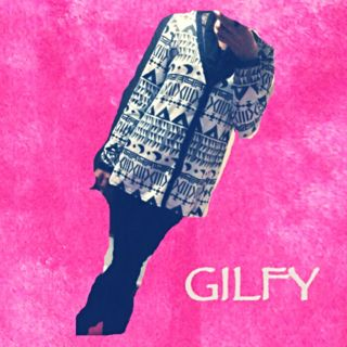 送料無料  GILFY カーディガン 人気の幾何学柄
