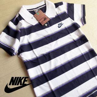 新品 L NIKE ナイキ マルチボーダー 半袖ポロシャツ