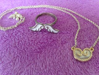 angel ring&love necklace