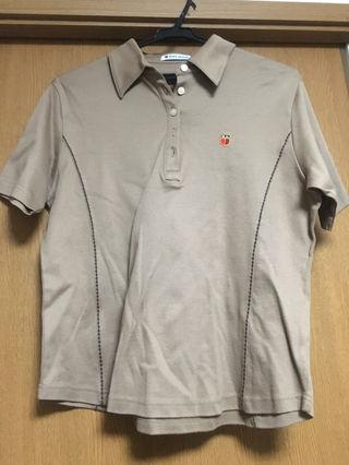 ブラウン ポロシャツ