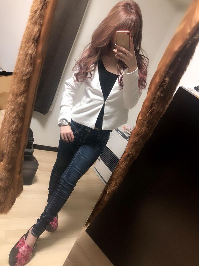 【新品タグ付】rienda ノーカラー スウェットジャケット
