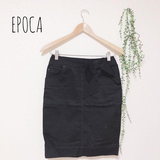 EPOCA ウエストリボンタイトスカート(EPOCA THE SHOP(エポカザショップ) ) - フリマアプリ&サイトShoppies[ショッピーズ]