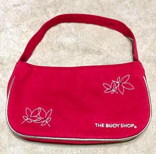 新品THE BODY SHOP 刺繍ミニバッグ
