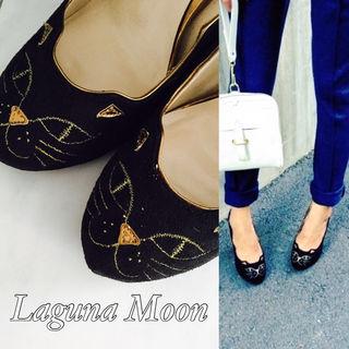 Laguna Moon カッティングcatパンプス ネコ