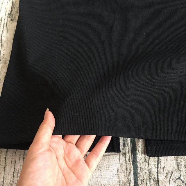 ニットスカート ロングスカート 黒 ミモレ丈