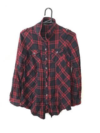 Doschチェックシャツレッドxブラック