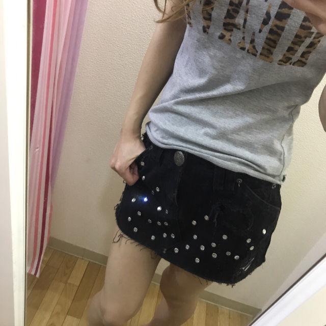 ビジュー付きミニスカート - フリマアプリ&サイトShoppies[ショッピーズ]