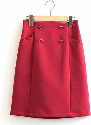 新品マジェスティックレゴン赤スカート
